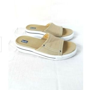 KEDS Jetty Slides Womens Size 7 Tan Khaki Sandals